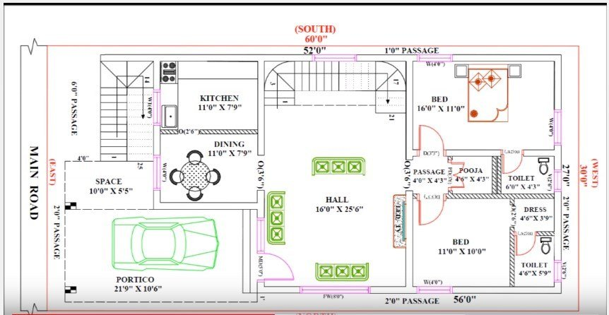 Best 30 Feet By 60 Single Floor Modern Home Plan According To With Pictures