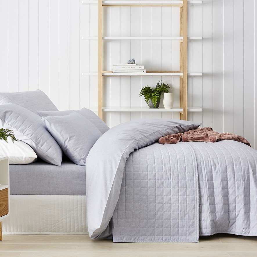 Best Metro Austin Chambray Coverlet Denim Bedroom Outlet With Pictures