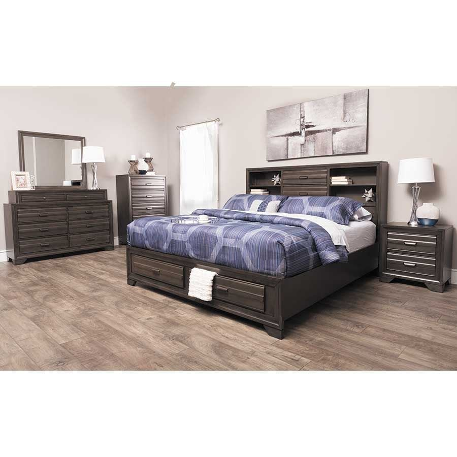 Best Antique Grey 5 Piece Bedroom Set 5236 Qbed 020 030 040 050 Lifestyle Furniture Afw Com With Pictures