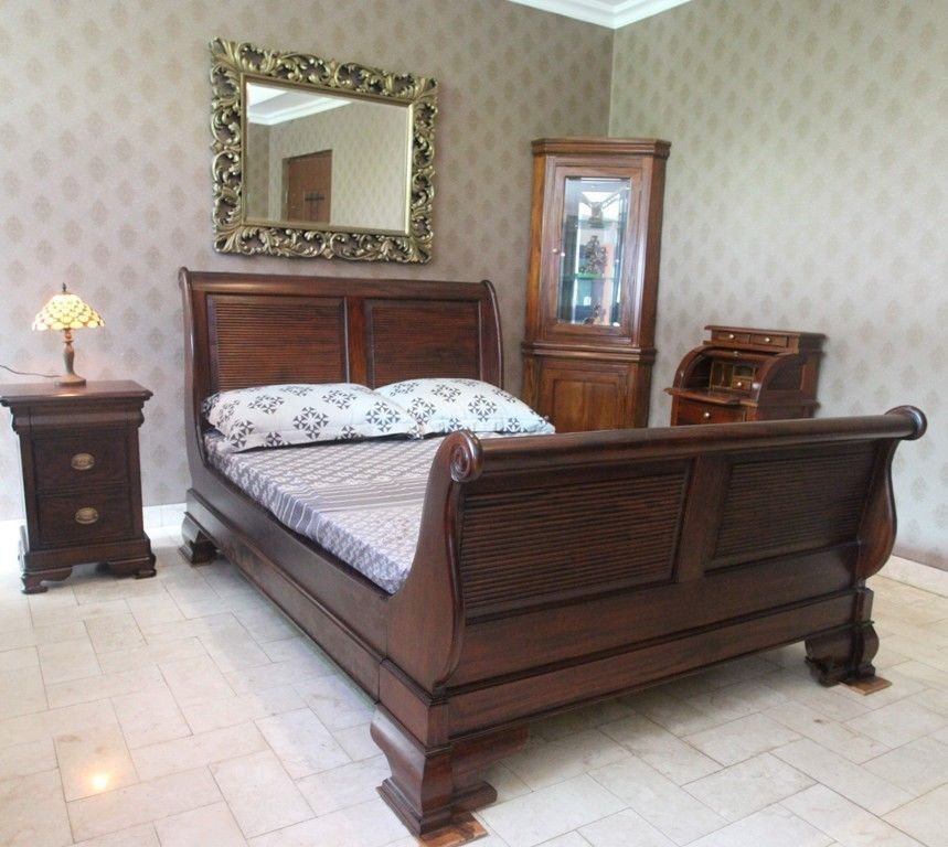Best Solid Mahogany Wood Bedroom Set With King Size Bed With Pictures