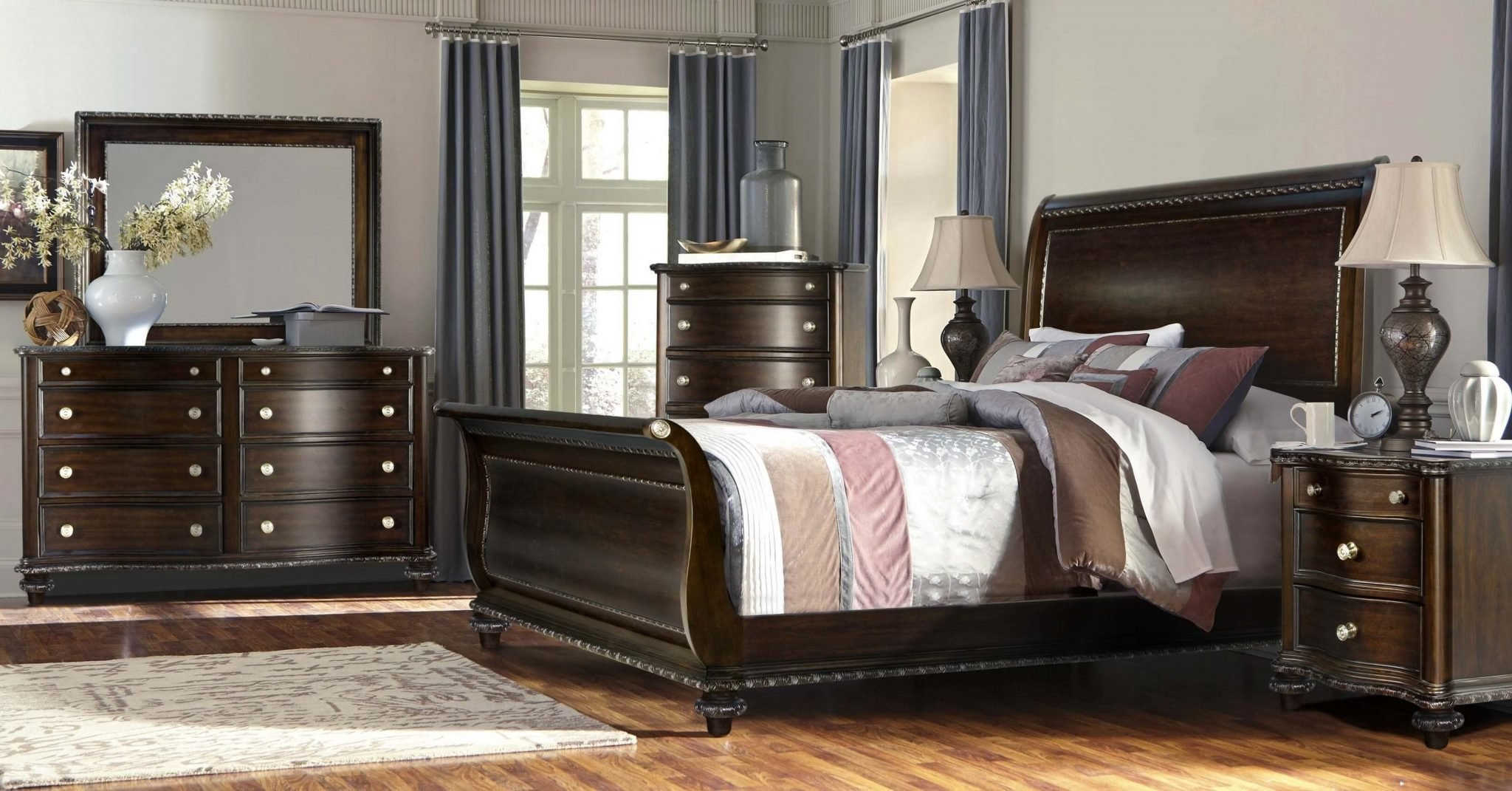 Best 4 Piece B195 Wilmington Sleigh Bedroom Set Usa Warehouse With Pictures