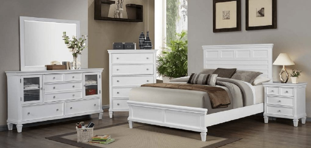 Best 4 Pc Coaster White Sandy Beach Bedroom Set With Pictures