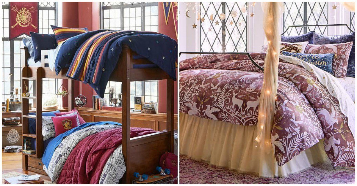 Best Pbteen S New Harry Potter Inspired Bedroom Collection Is Just As Magical As We D Hoped Babble With Pictures