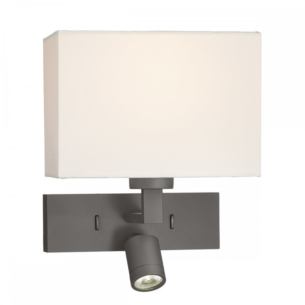 Best Bronze Over Bed Wall Light With Led Reading Light For With Pictures