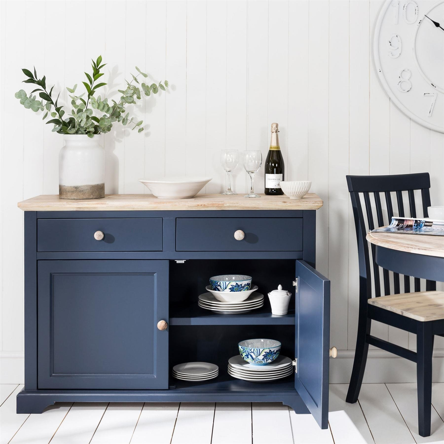 Best Florence Navy Blue Sideboard Bedroom Furniture Direct With Pictures
