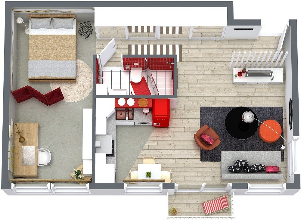 Best One Bedroom Floor Plans Roomsketcher With Pictures