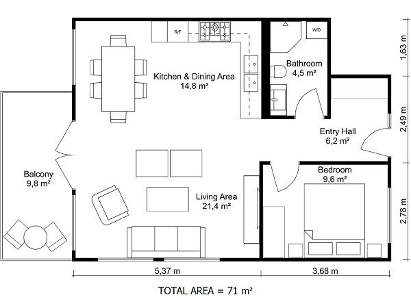 Best 3 Bedroom Floor Plans Roomsketcher With Pictures