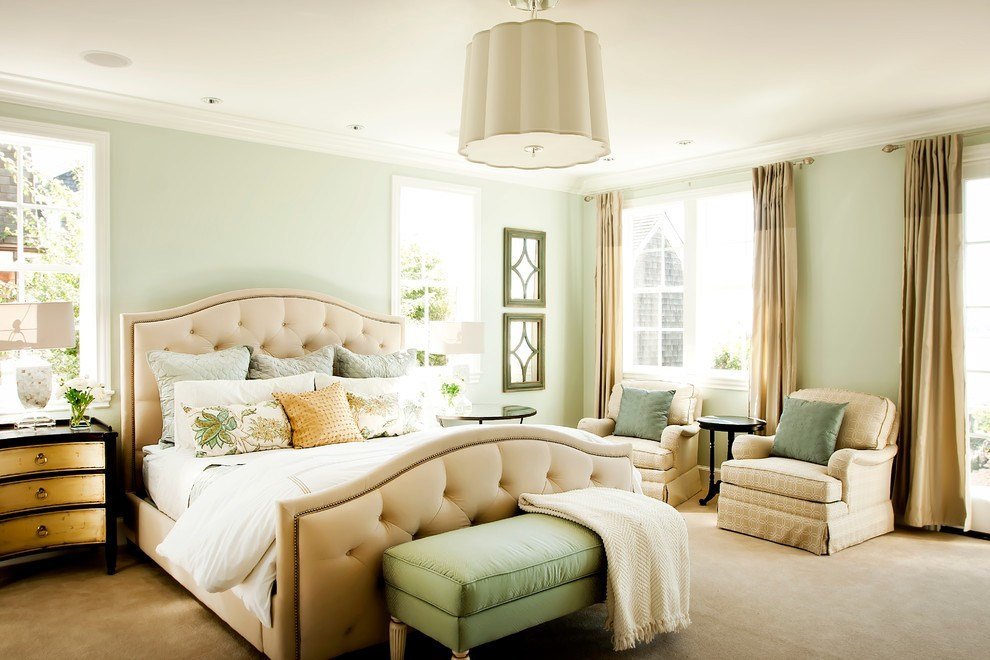 Best Green Wall Design Bedroom Traditional With Light Green Walls Pale Green Walls Czmcam Org With Pictures