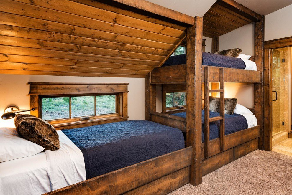 Best Rustic Built In Bunk Beds Kids Traditional With Built In With Pictures