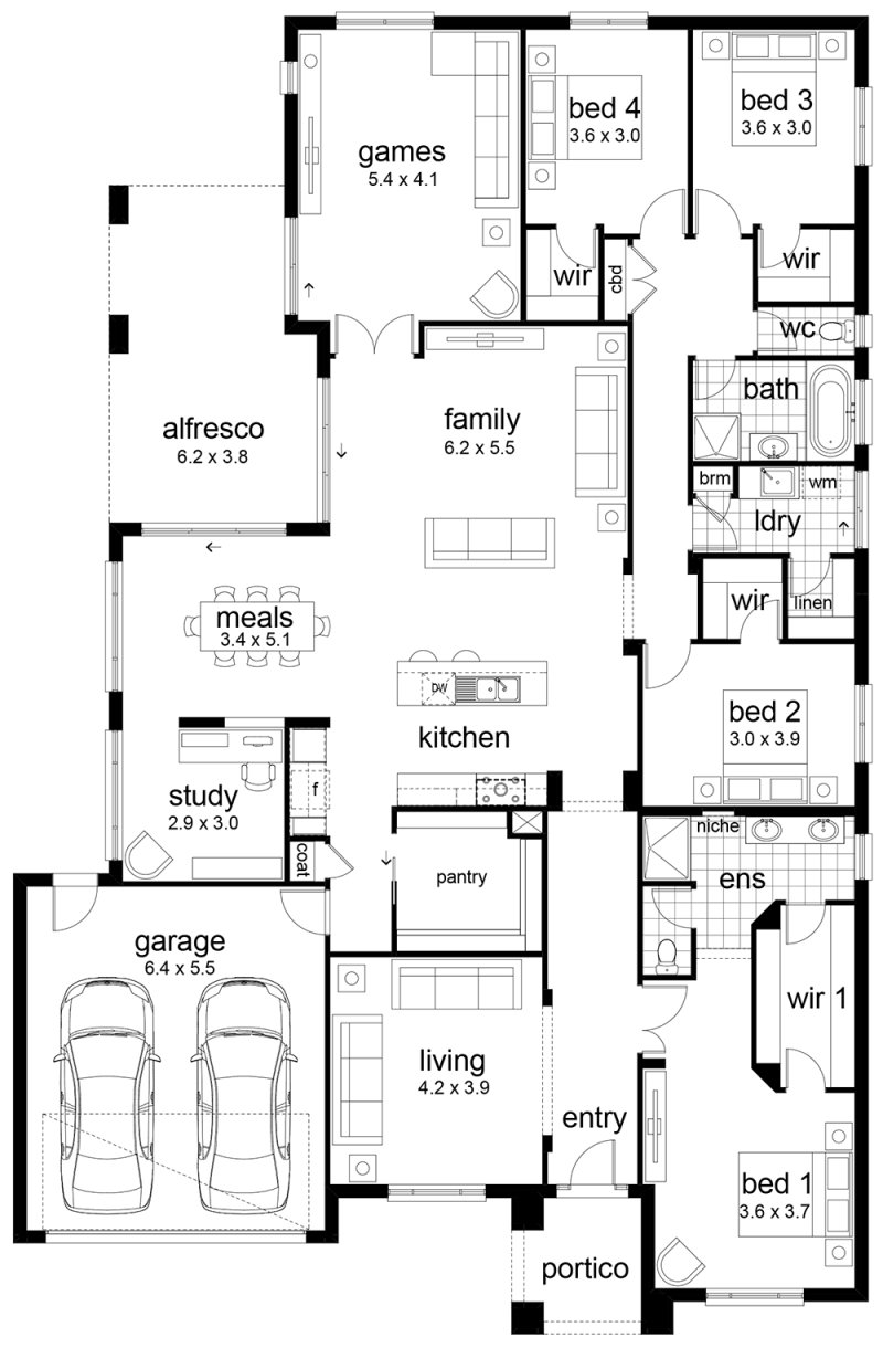 Best Floor Plan Friday 4 Bedroom Family Home With Pictures