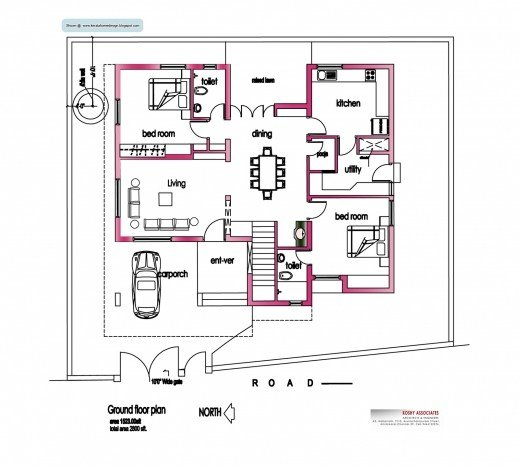 Best 2000 Square Feet 3 Bedroom House Plan And Elevation With Pictures