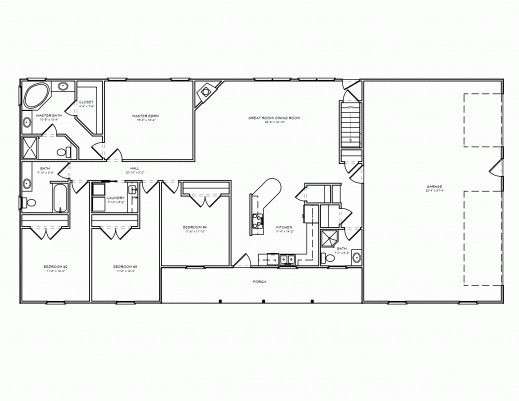 Best Inspiring Free 3 Bedroom Ranch House Plans With Carport With Pictures
