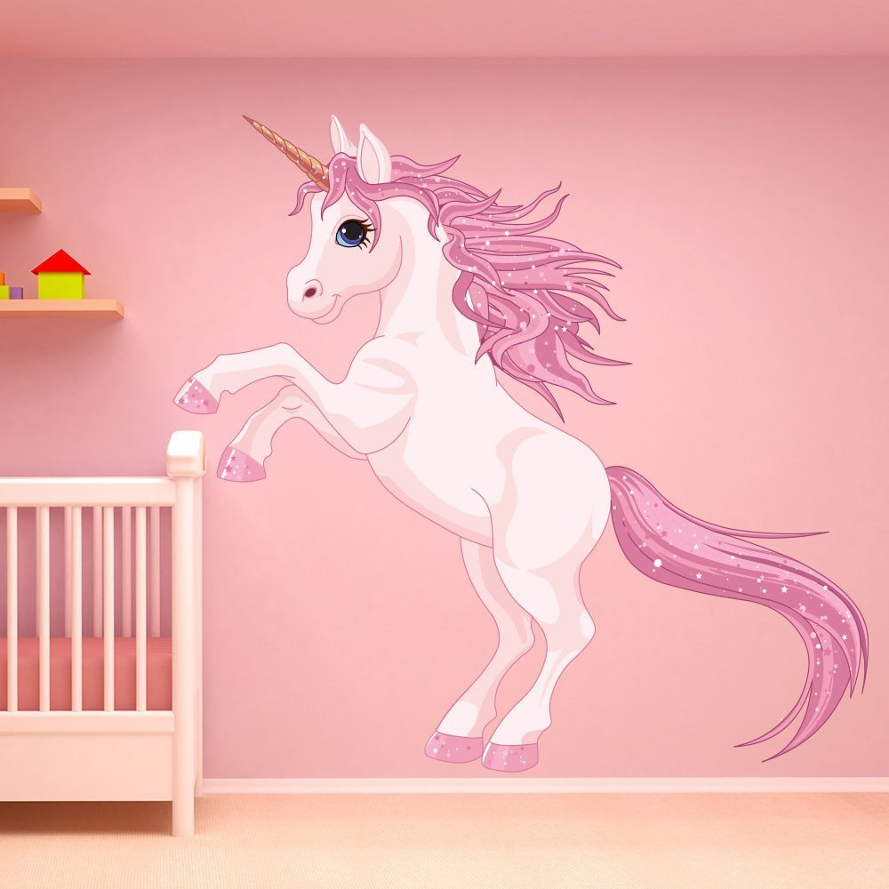 Best Unicorn Wall Sticker Fantasy Fairy Tale Wall Decal Girls With Pictures