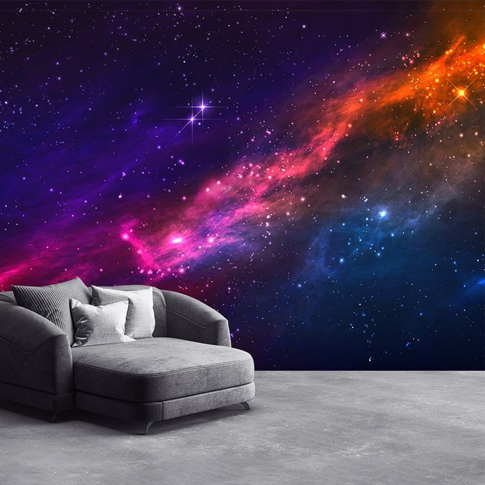 Best Outer Space Nebula Wall Mural Purple Pink Sky Photo With Pictures