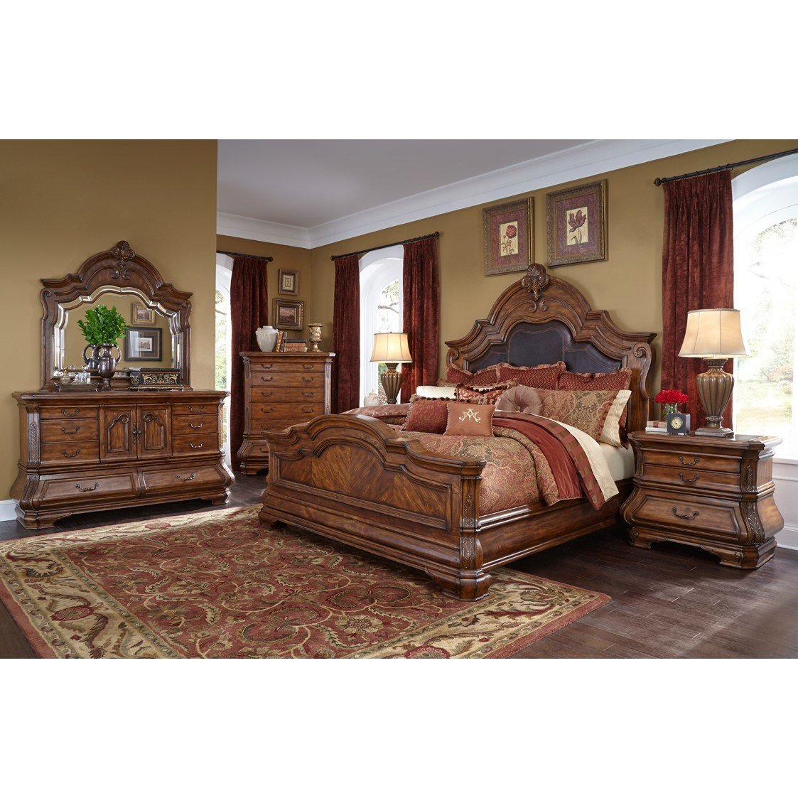 Best Michael Amini Tuscano Melange 4Pc Queen Size Mansion With Pictures