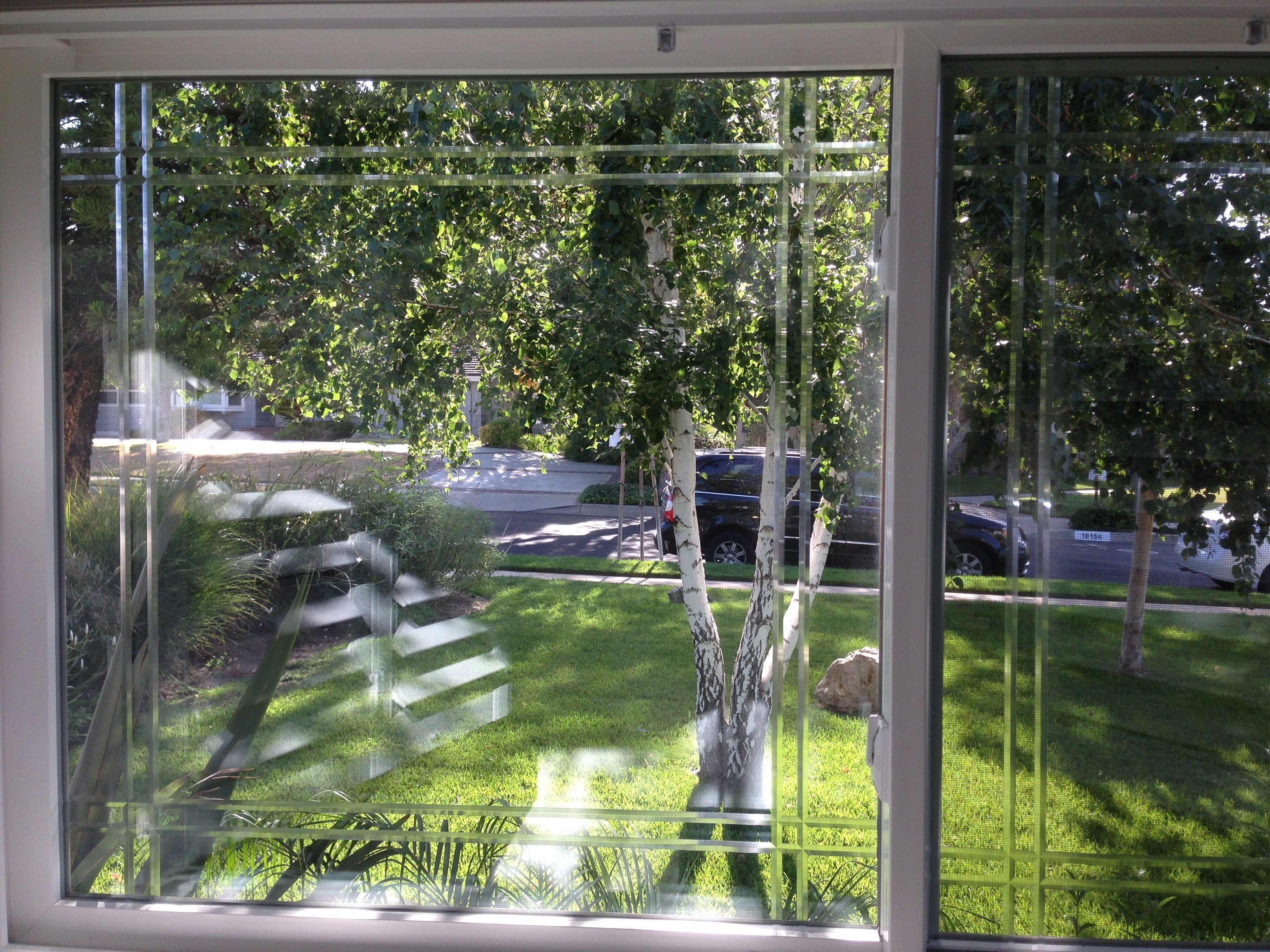 Best Ceramic 50 Window Film Applied To French Doors Bedroom With Pictures