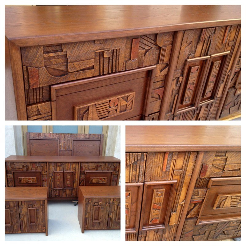 Best Mid Century Brutalist Bedroom Set By Lane – Sold With Pictures