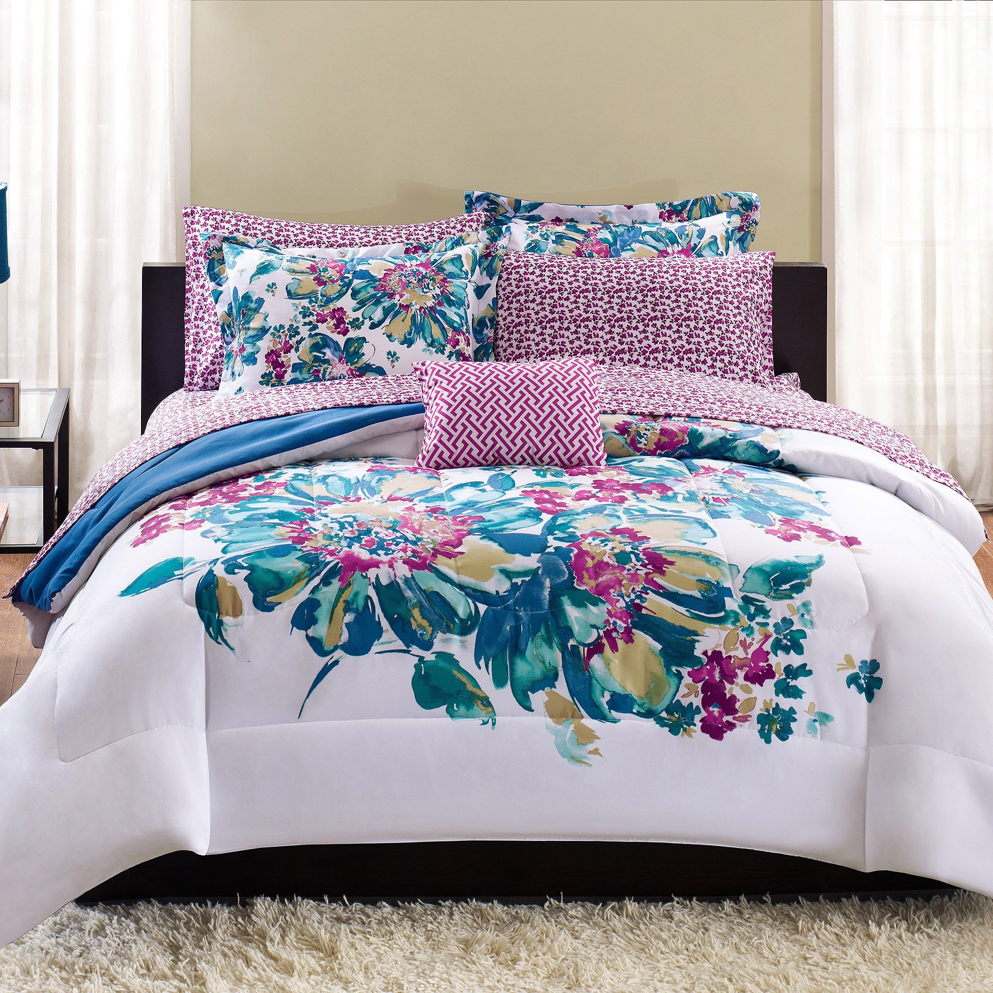 Best Mainstays Floral Bed In A Bag Bedding Set Walmart Com With Pictures