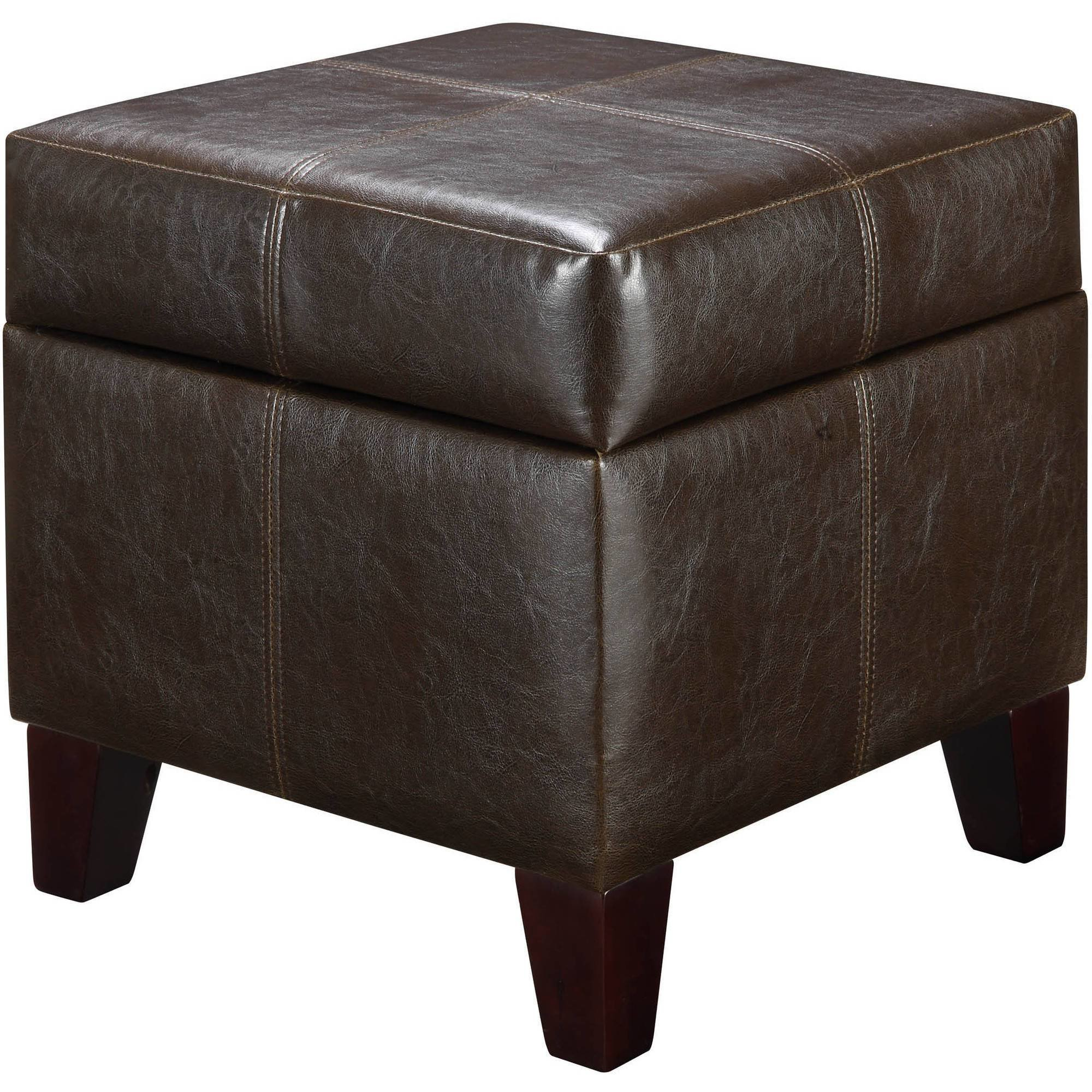 Best Brown Leather Storage Ottoman Comfort Living Room Bedroom With Pictures