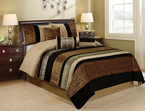 Best 7 Piece Samber Fuax Fur Patchwork Clearance Bedding With Pictures