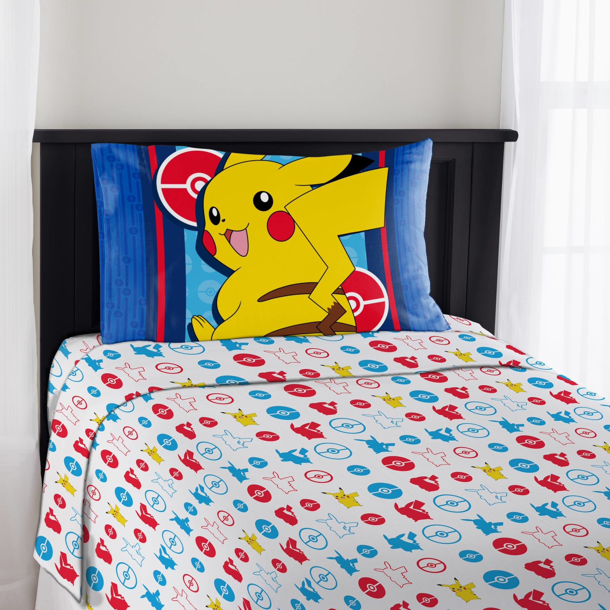 Best Pokemon Bedding Electric Ignite Sheet Set Multiple Size Bed Home Bedroom Kids Ebay With Pictures