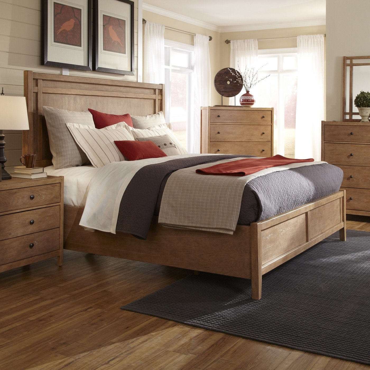 Best American Woodcrafters 1000 Natural Elements Panel Bed With Pictures