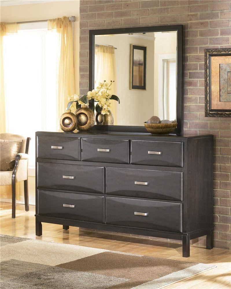 Best Ashley Furniture Kira 7 Drawer Dresser And Mirror Combo With Pictures
