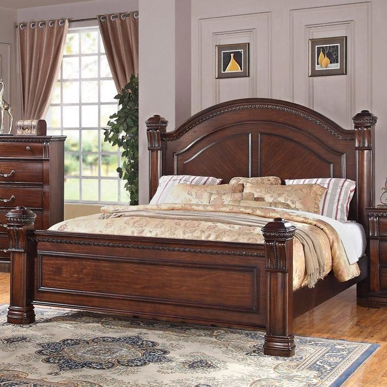 Best Austin Group Isabella 527 Traditional King Bed With Square With Pictures