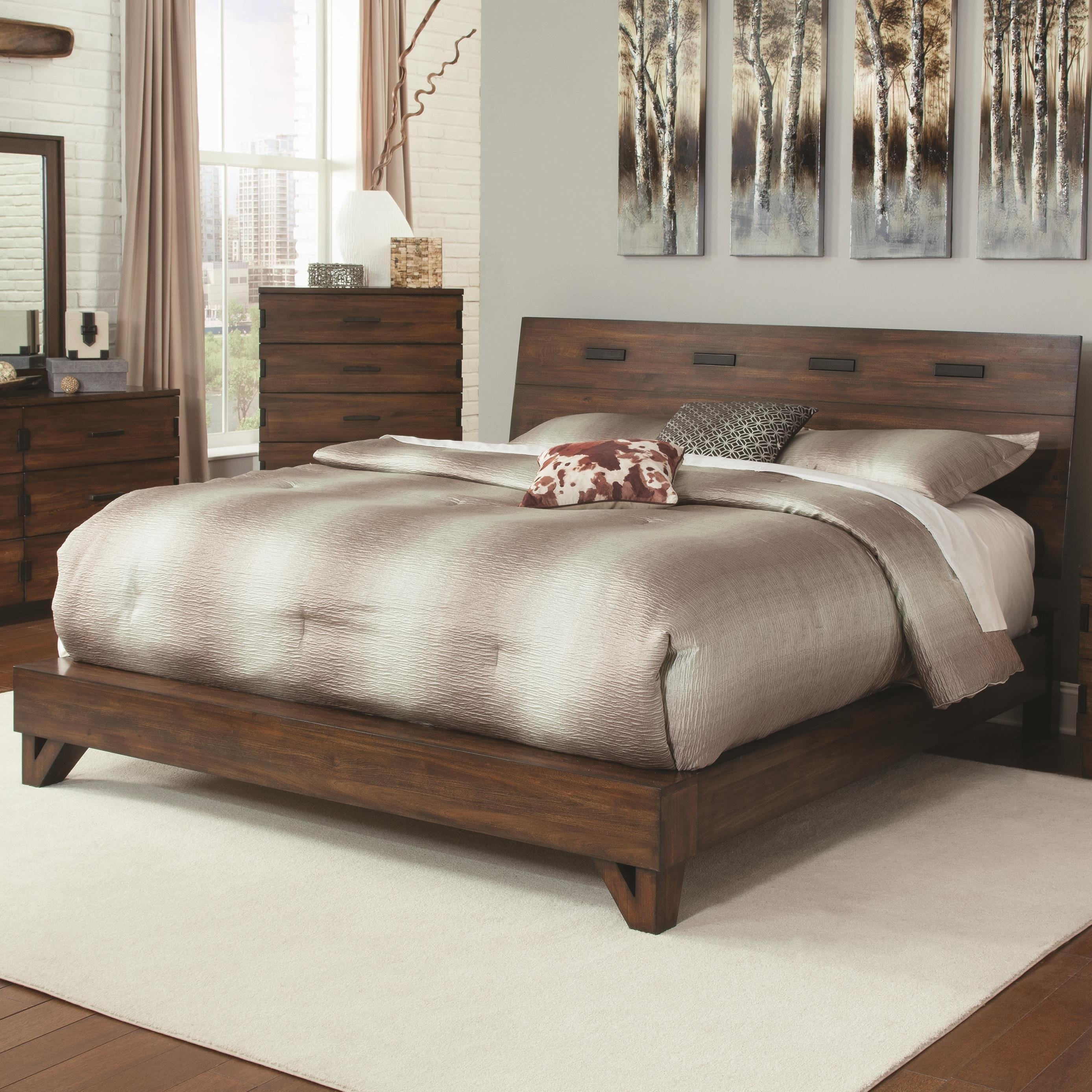 Best Fine Furniture Yorkshire 204851Ke Rustic King Bed With With Pictures