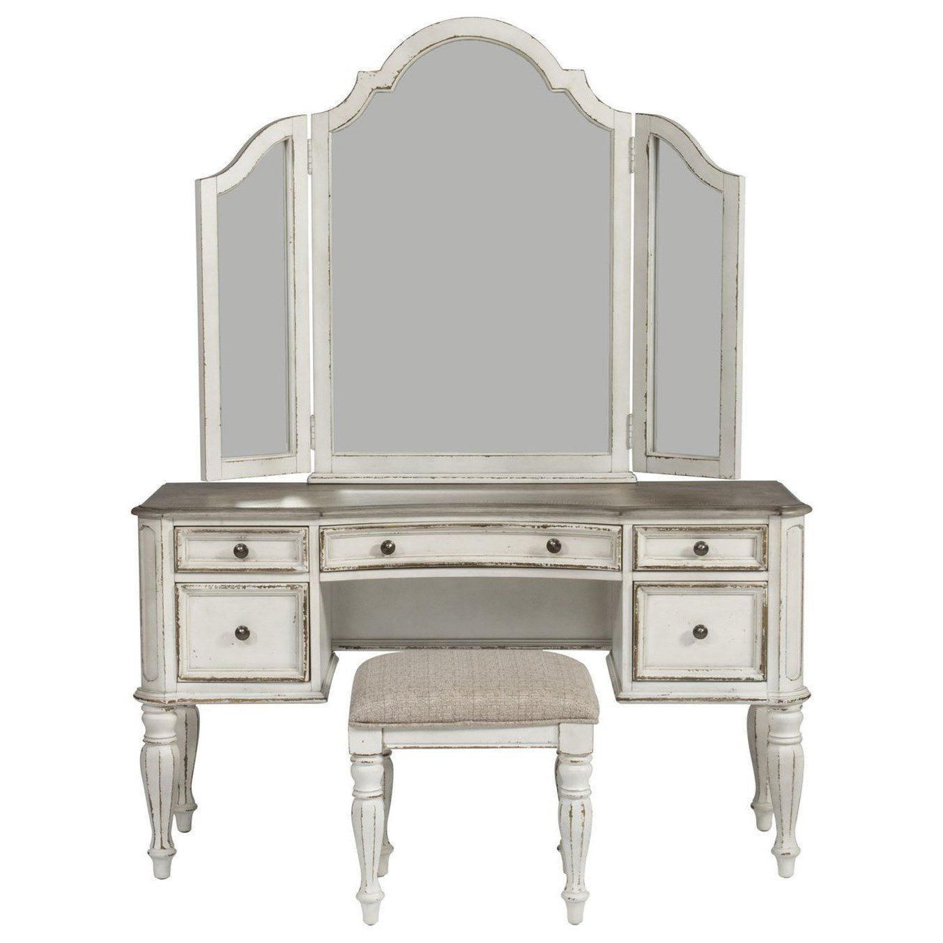 Best Liberty Furniture Magnolia Manor Bedroom Vanity Set Royal Furniture Vanities Vanity Sets With Pictures