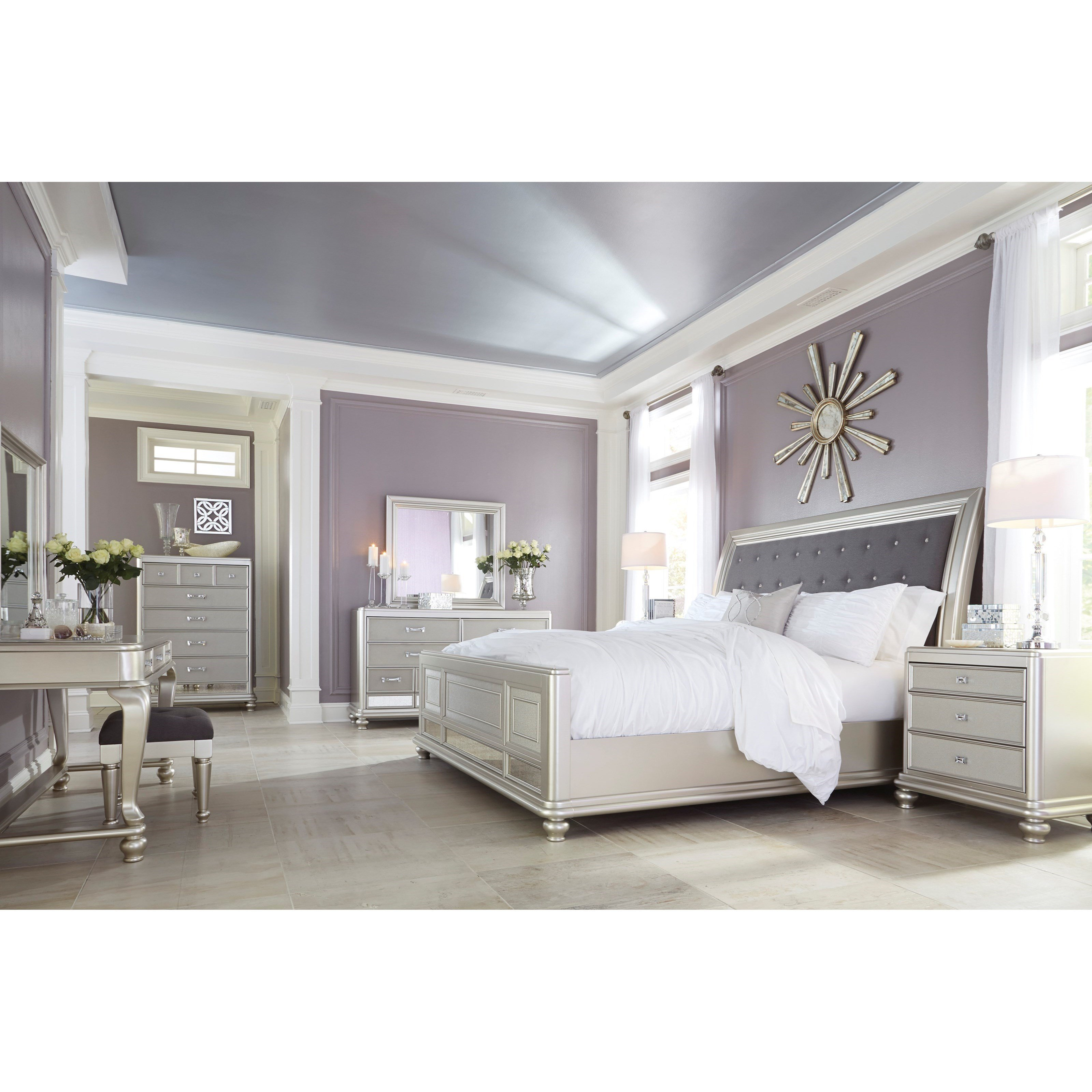 Best Signature Design By Ashley Coralayne Queen Bedroom Group With Pictures