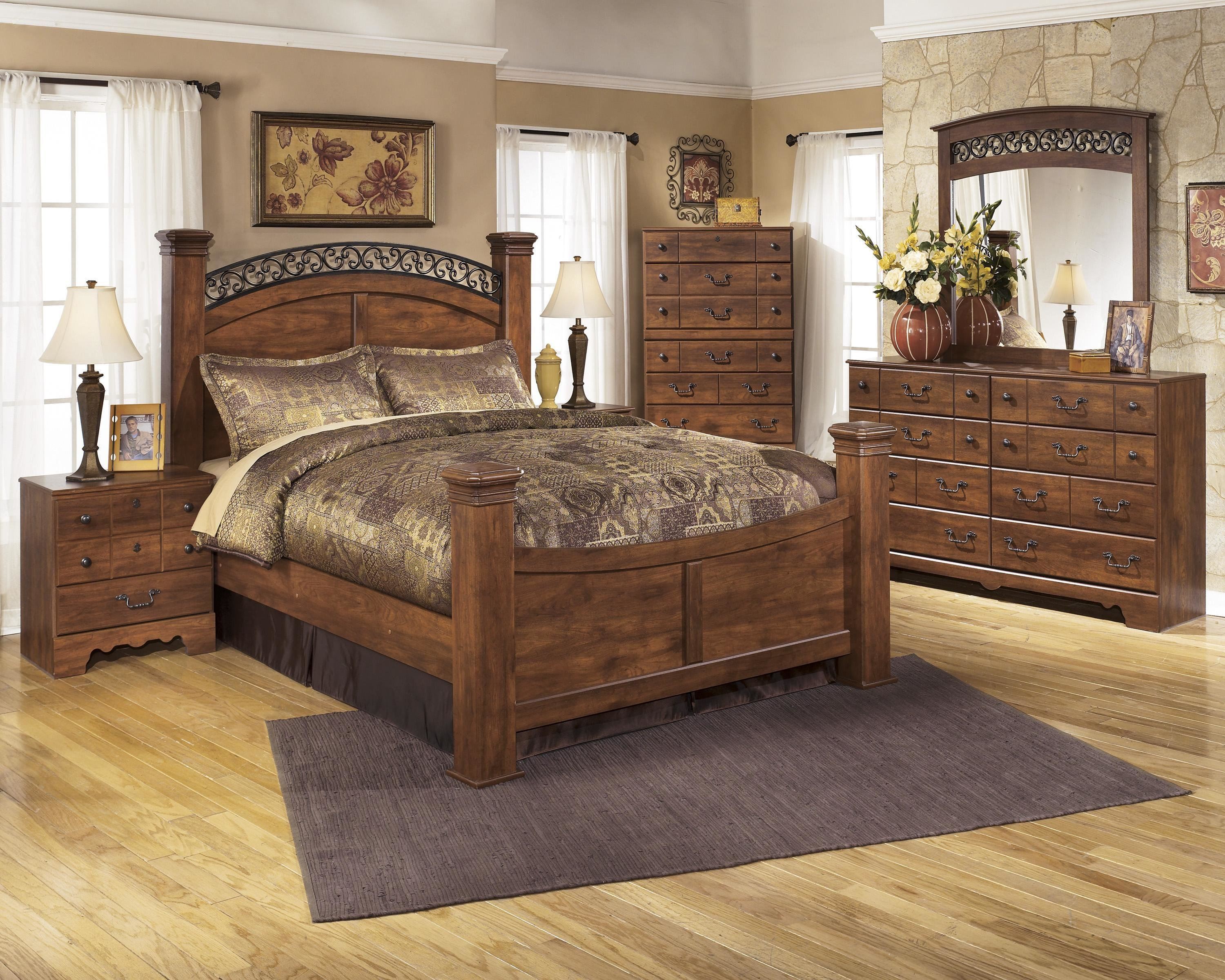 Best Signature Design By Ashley Timberline B258 Q Bedroom Group 3 No Chest Queen Bedroom Group 4Pc With Pictures
