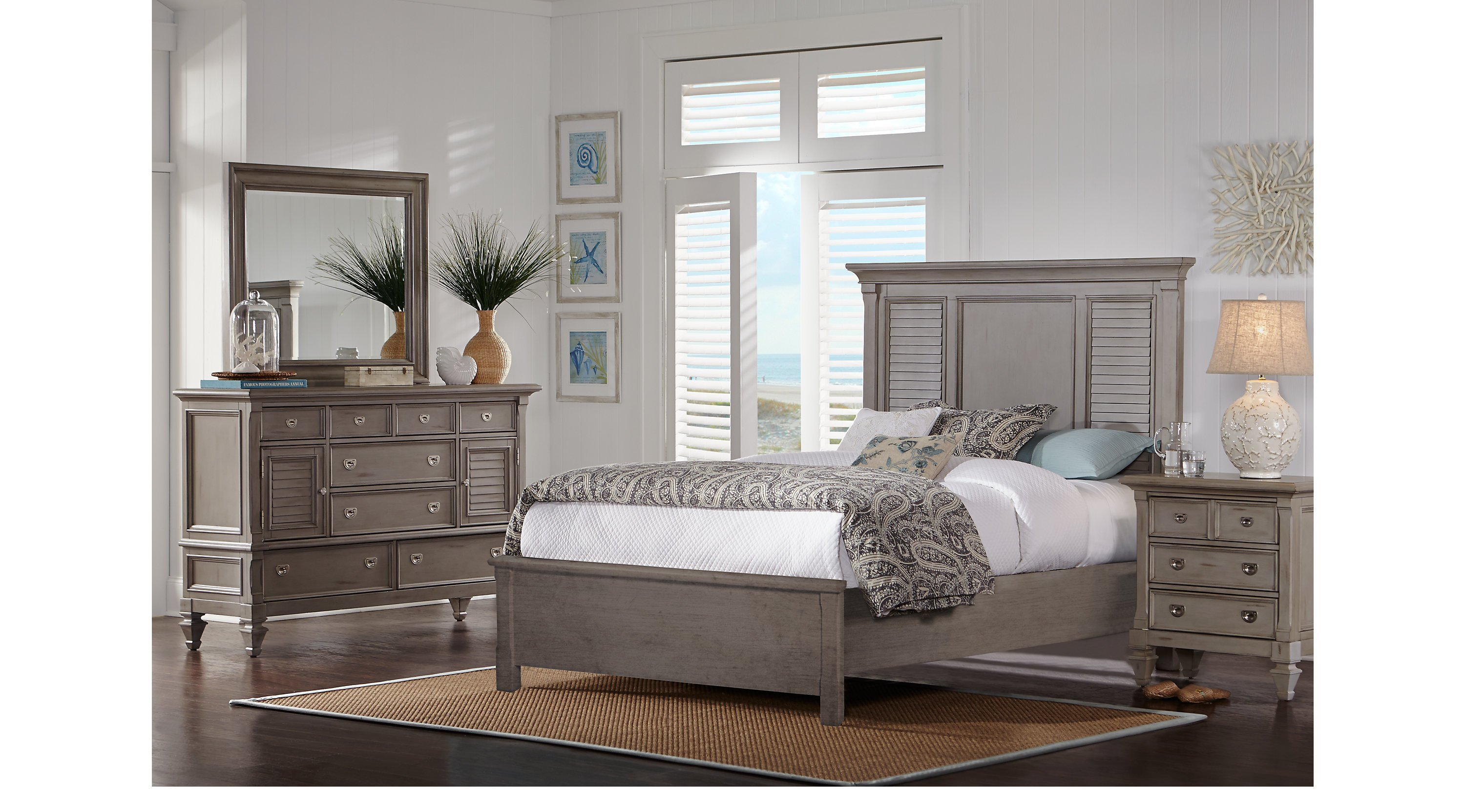 Best Belmar Gray 7 Pc Queen Bedroom Panel Traditional With Pictures