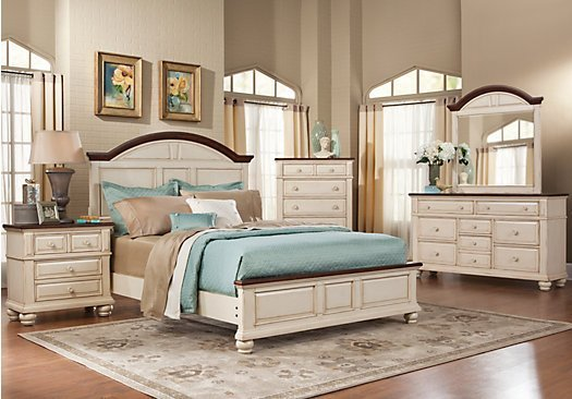 Best Berkshire Lake White 5 Pc Queen Panel Bedroom Casual With Pictures