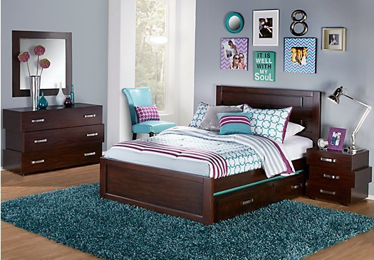 Best Quake Cherry 5 Pc Full Panel Bedroom With Pictures