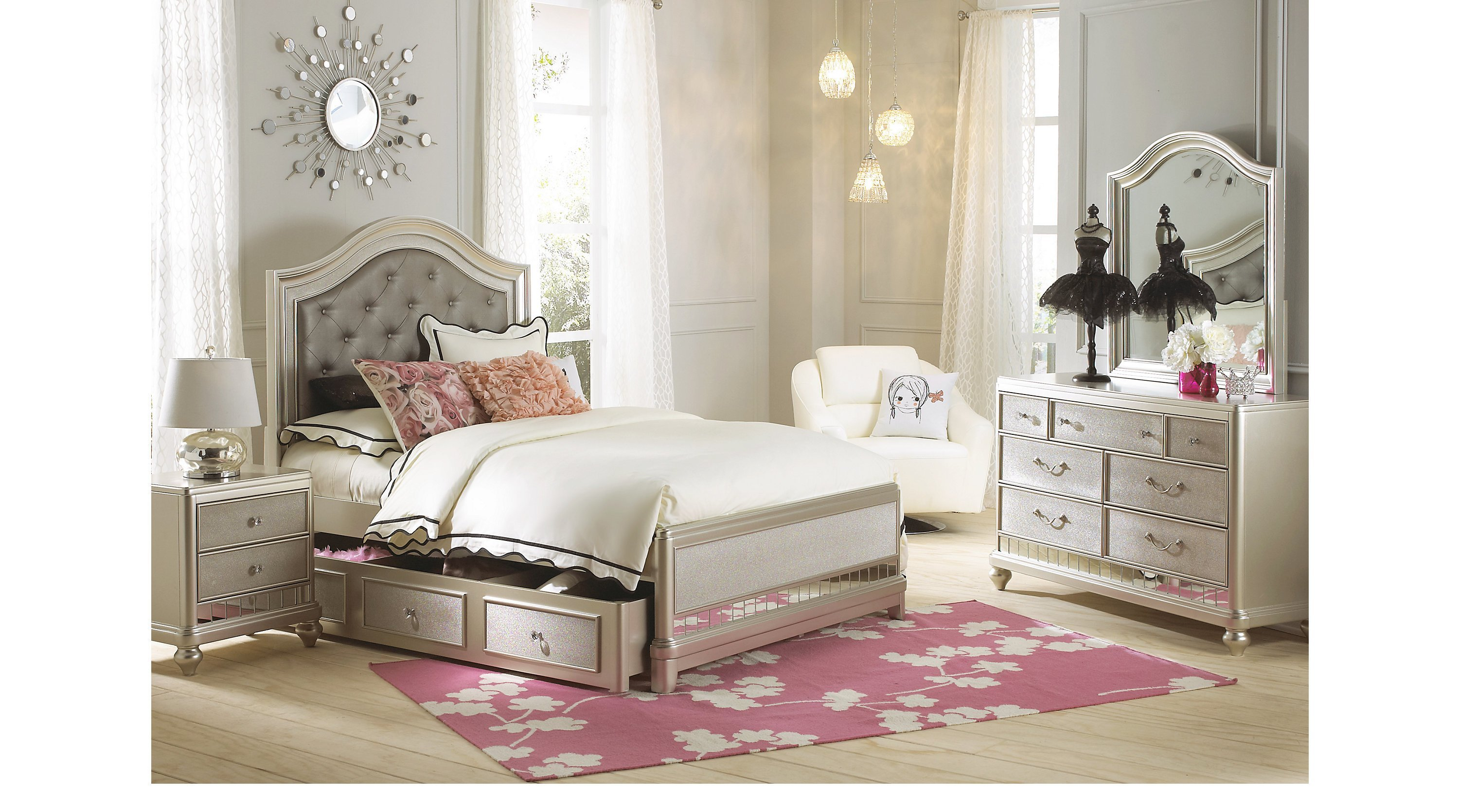 Best Petit Paris Champagne 6 Pc Full Panel Bedroom With Pictures