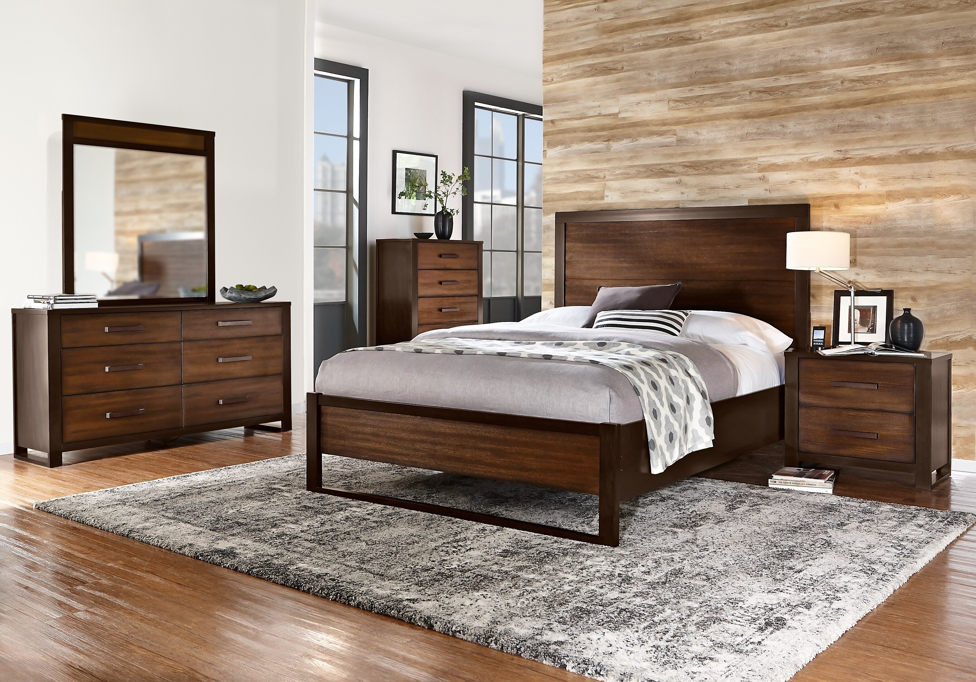 Best Abbott Hazelnut 5 Pc Queen Panel Bedroom Queen Bedroom With Pictures
