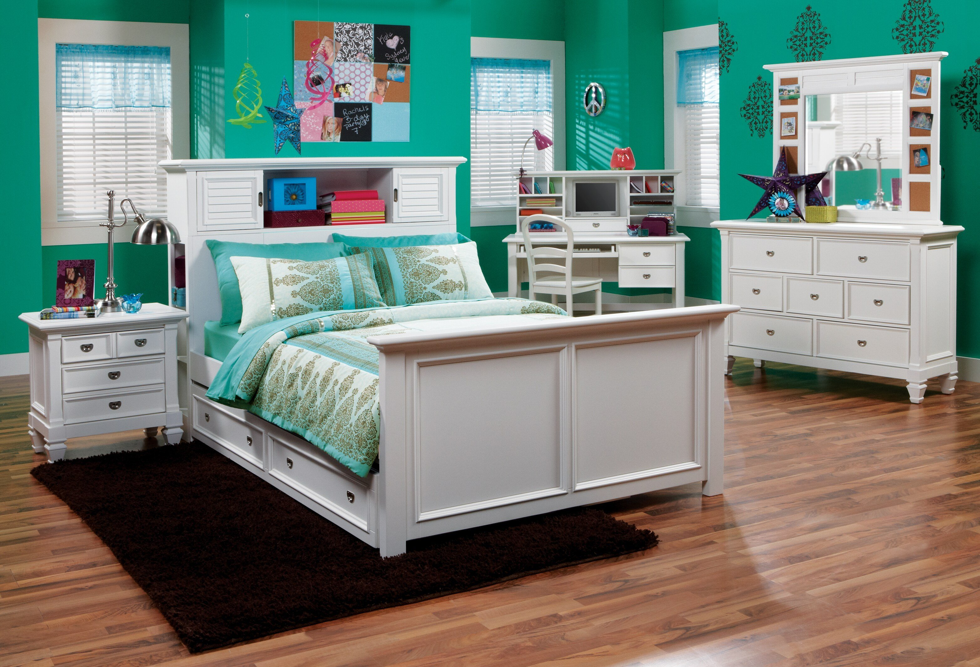Best Belmar White 6 Pc Full Bookcase Bedroom T**N Bedroom With Pictures