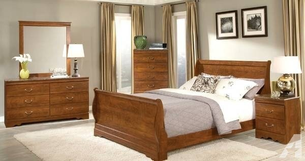Best 7Pc Queen Faux Marble Bedroom Set W Sleigh Bed For Sale With Pictures