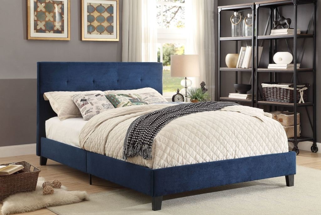 Best Homelegance Bedroom Queen Platform Bed In A Box 1880Bue 1 With Pictures