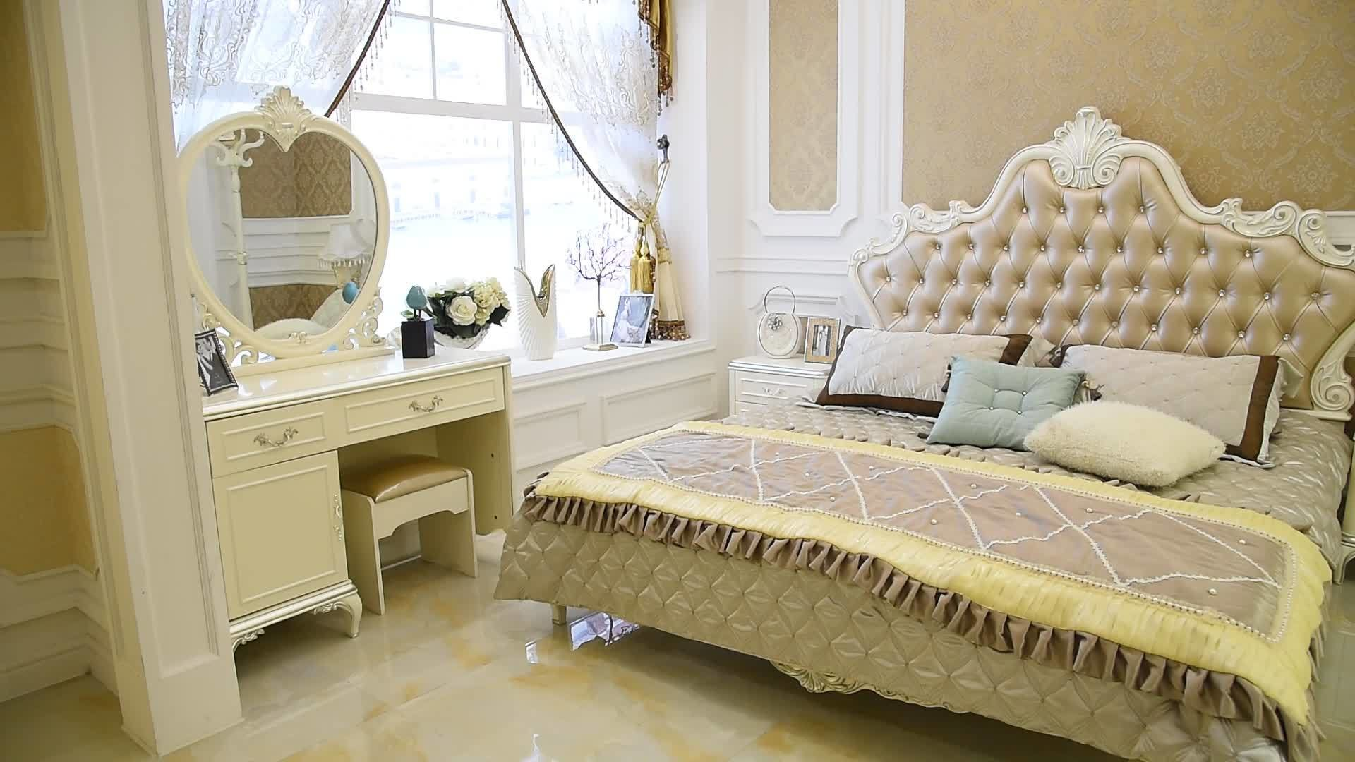 Best Classical Cream Colored Royal French Bedroom Set Luxury With Pictures