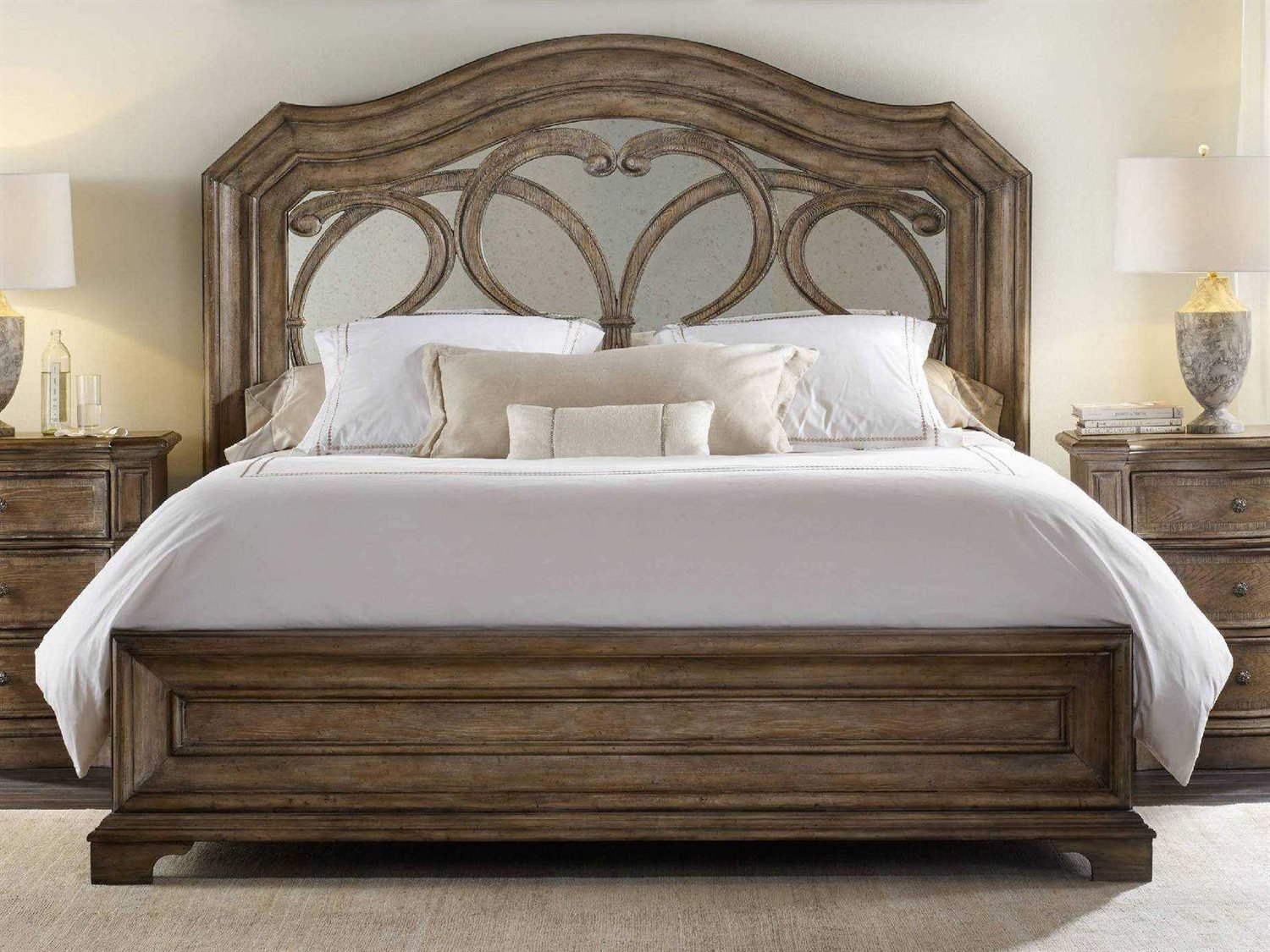 Best H**K*R Furniture Solana Wood Panel Bed Bedroom Set With Pictures