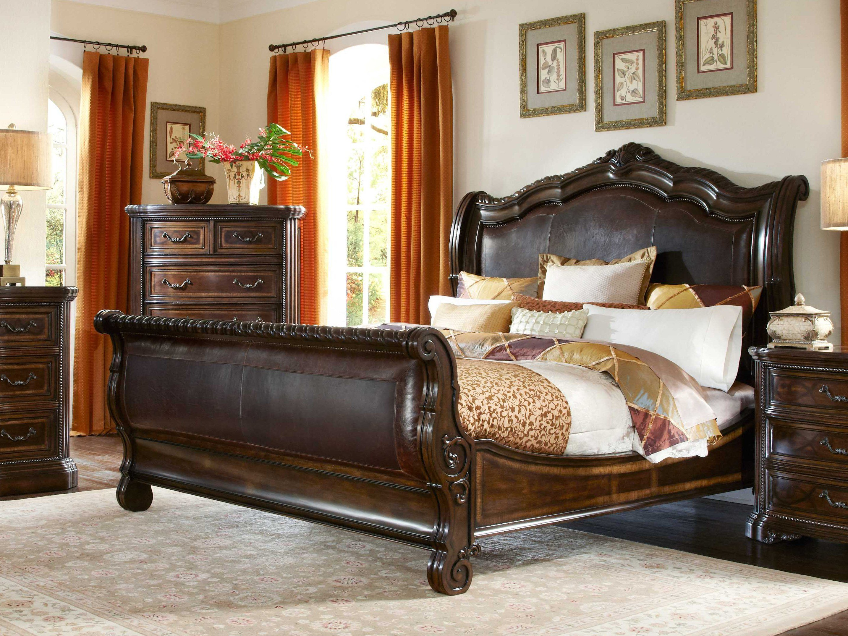 Best A R T Furniture Valencia Dark Oak Sleigh Bedroom Set With Pictures