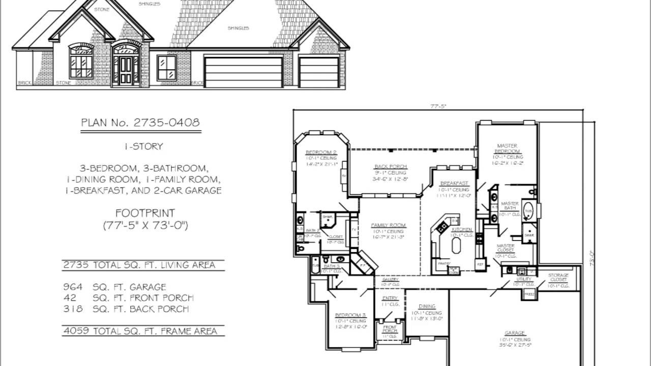 Best Two Bedroom House Plans With Two Car Garage Youtube With Pictures