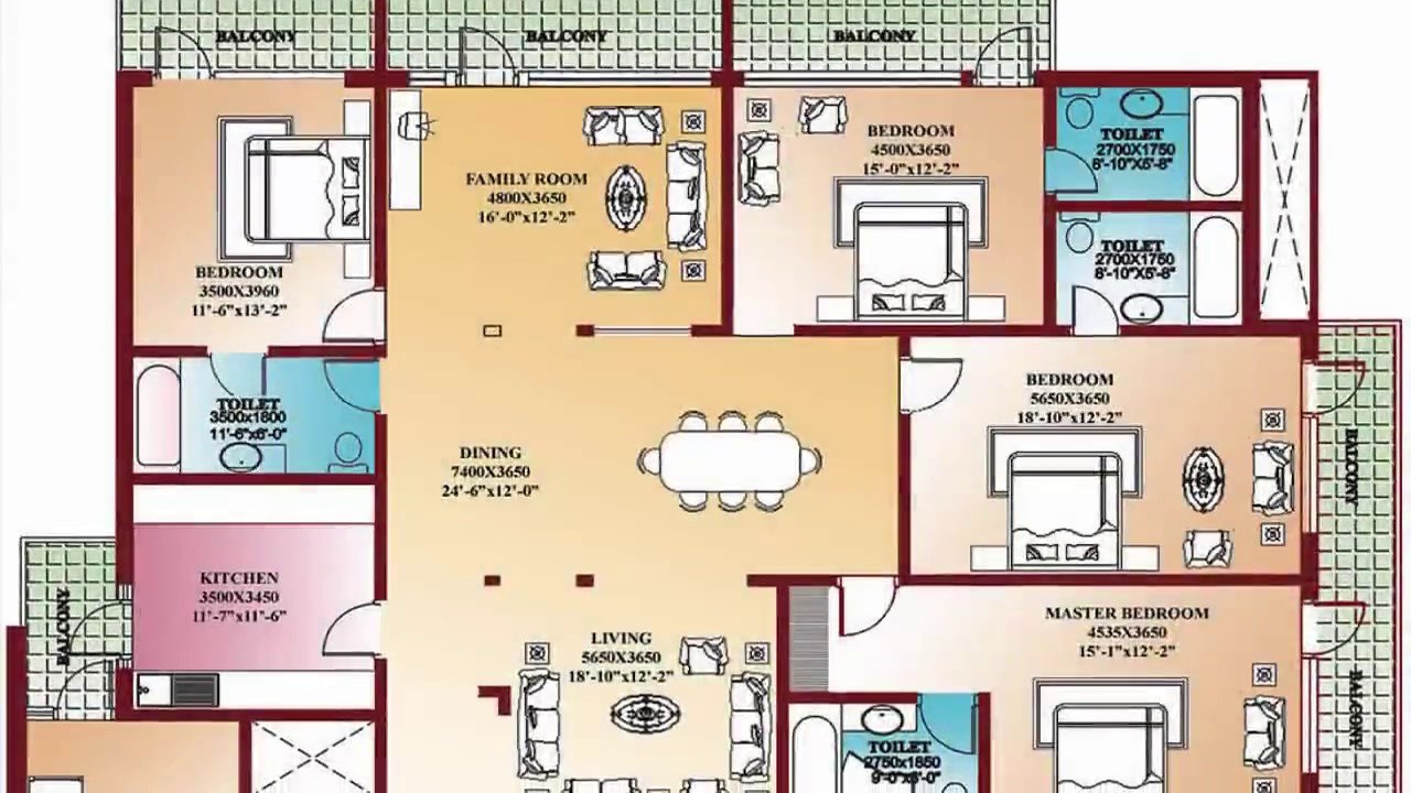 Best 4 Bedroom Floor Plans Home Design Decorating And With Pictures