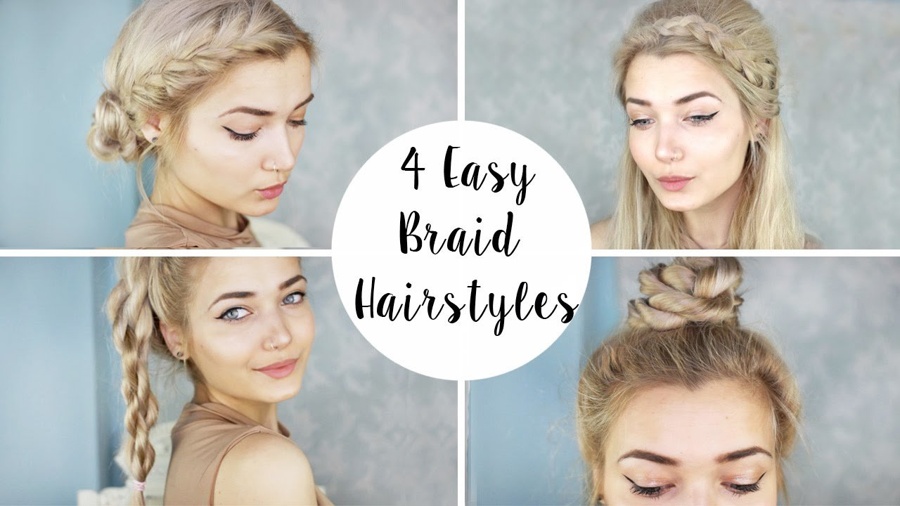 Free 4 Cute Braid Hairstyles Quick Easy Youtube Wallpaper