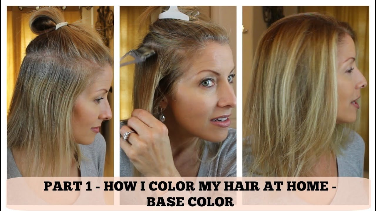 Free Part 1 Home Hair Color How I Color The Base Youtube Wallpaper