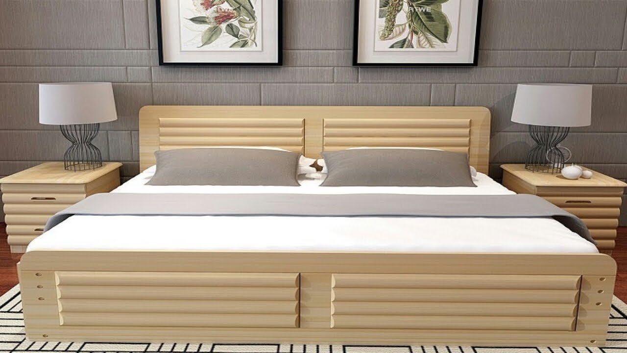 Best Latest Simple And Classic Wooden Bed Designs Of 2018 With Pictures