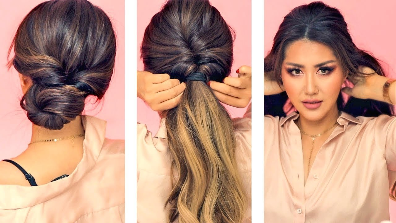 Free 1 Min Everyday Hairstyles For Work With Puff Easy Wallpaper
