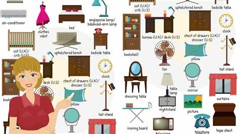 Best Bedroom Vocabulary Learn Names Of Bedroom Objects In With Pictures